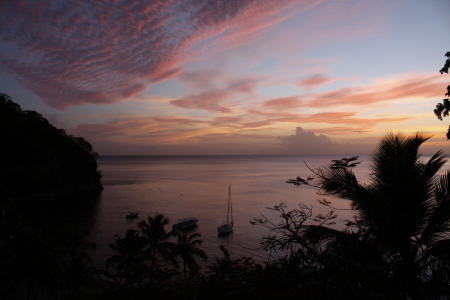 Anse Chastanet - Sunset over Anse Chastanet