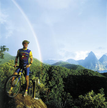 Anse Chastanet - Hiking and biking trails trough resort estate