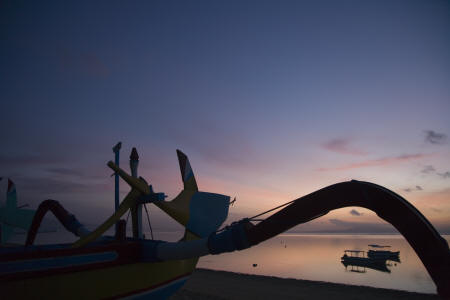 the gangsa - Romantic sunset at Sanur beach
