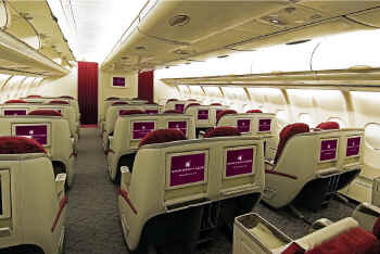 Qatar Airways - Classe Affaires dans un Airbus A340