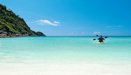 The Racha - White sand beach and turquoise sea