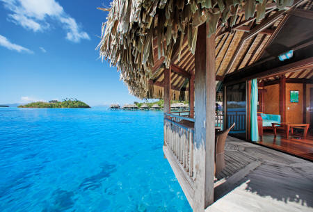 Sofitel Bora Bora Marara Beach Resort - Lagoon view from an overwater bungalow
