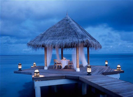 Taj Exotica Resort & Spa - Romantic private dinner